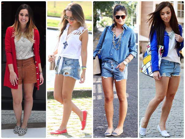 Alpargatas com shorts